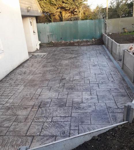 Idei de amenajari cu beton amprentat
